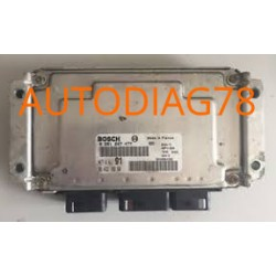 CALCULATEUR MOTEUR PEUGEOT 206 1.6 BOSCH 0 261 207 477, 0261207477, 96 503 479 80, 9650347980, 1039S01172, ME7.4.4 91