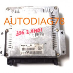 CALCULATEUR MOTEUR PEUGEOT 306 2.0 HDI BOSCH 0281010362, 0 281 010 362, 9640324380, 96 403 243 80, EDC15C2 20