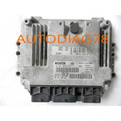 CALCULATEUR MOTEUR PEUGEOT 206 1.4 HDI BOSCH 0 281 010 707, 9646559980, 9644157380, 96 465 599 80, 96 441 573 80, ED