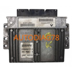 CALCULATEUR MOTEUR RENAULT LAGUNA SAGEM S2000RPM 21645977-2, 8200142883, 8200045893, S2000