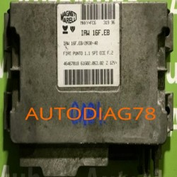 CALCULATEUR MOTEUR FIAT PUNTO 1.1 IAW16FEB, IAW16F.EB, IAW 16F.EB/2A30-40 46467018 6160206302, 61602.063.02