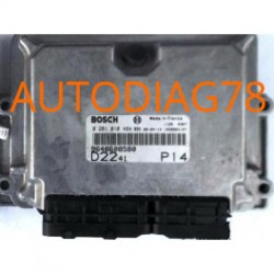 CALCULATEUR MOTEUR CITROEN JUMPER PEUGEOT BOXER 2.2 HDI BOSCH 0281010484, 0 281 010 484, 9648608580 , D2241 P13