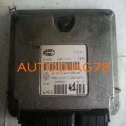 CALCULATEUR MOTEUR FIAT PANDA 1.2, IAW 4AF.SP, IAW4AFSP, 61601.124.01, 6160112401, 55196261