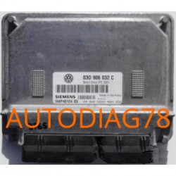 CALCULATEUR MOTEUR VW VOLKSWAGEN POLO 1.2, SIMENS 5WP40124 03, 5WP4012403, 03D 906 032 C, 03D906032C