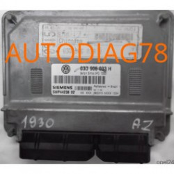 CALCULATEUR MOTEUR VW VOLKSWAGEN FOX 1.2 BMD 03D906033H, 03D 906 033 H, SIEMENS 5WP44238 02 , BENZIN SIMOS 3PG 7000