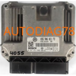 CALCULATEUR MOTEUR VW VOLKSWAGEN GOLF 1.9 TDI 03G906021FD, 03G 906 021 FD, BOSCH 0 281 013 089, 0281013089, DIESEL EDC16U34