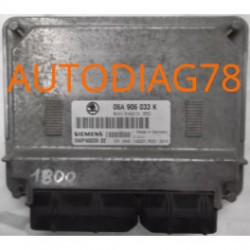 CALCULATEUR MOTEUR SKODA OCTAVIA 1.6 AVU 06A906033K, 06A 906 033 K, SIEMENS 5WP40039