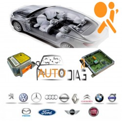 Réparation Calculateur D'airbag Ford Kuga Bosch 0 285 010 643, c, 8V4T 14B321 AG, 8V4T14B321AG
