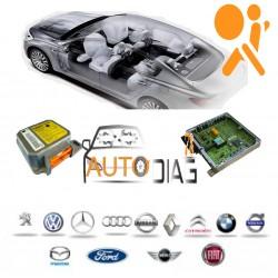 Réparation Calculateur D'airbag Peugeot 106 Autoliv 550 89 28 00, 550892800, 9639917380AJ - ST95080