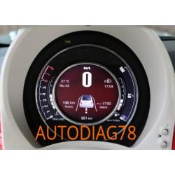 Réparation tableau de bord compteur Fiat 500