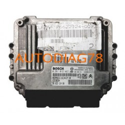 CALCULATEUR MOTEUR CITROEN PEUGEOT 1.6 HDI BOSCH 0 281 012 467, 0281012467, 96S3958980, 1039S14117, 96 622 124 80, EDC16C34