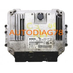 CALCULATEUR MOTEUR CITROEN C2 1.4 HDI BOSCH 0 281 011 861, 0281011861, EDC16C34,96 570 611 80, 9657061180, 9654490280