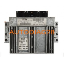 CALCULATEUR MOTEUR CITROEN C3 1.4 8V SAGEM 21584228-3, 215842283, 9650825180, 9642222380, 84820V02