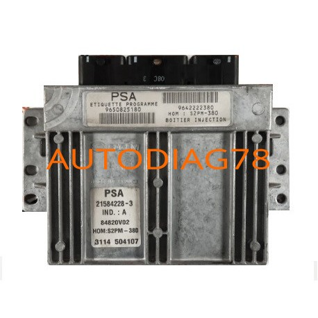CALCULATEUR MOTEUR CITROEN C3 1.4 8V SAGEM 21584228-3, 215842283,  9650825180, 9642222380, 84820V02 - Autodiag78